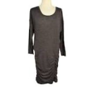 Athleta Tulip Ruched Dress Long Sleeves Sz Small